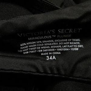 Victoria's Secret Intimates & Sleepwear - Victoria's Secret bra 34A Miraculous Plunge solid